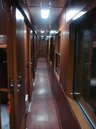 Corridor in Royal train, Hanoi Sapa Lao Cai train tickets information
